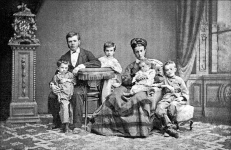 Hrushevsky family - photo in 1876