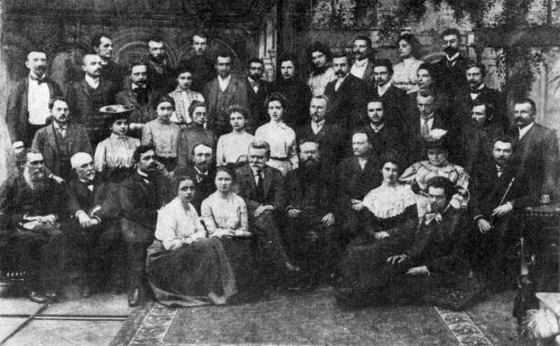 Преподаватели и студенты всеукраинских Высших летних (каникулярных) курсов. Львов, 1904 г.